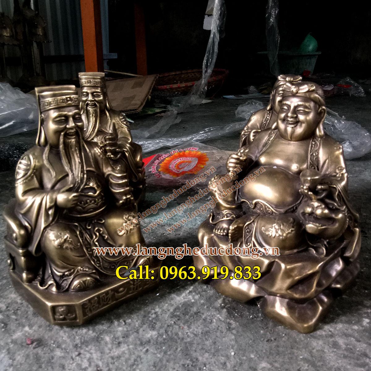 langngheducdong.vn - tượng đồng, tượng thần tài, tượng ông địa, cặp tượng thần tài ông địa