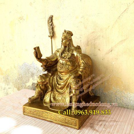 langngheducdong.vn - tượng quan công đọc sách, tượng quan công bằng đồng, đúc tượng quan công
