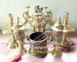 langngheducdong.vn - đỉnh đồng, lư hương, bát hương, đèn thờ, đồ thờ vàng bóng
