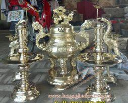 langngheducdong.vn - đồ thờ cúng, đỉnh đồng, lư hương, lọ hoa, mâm ngũ quả bằng đồng