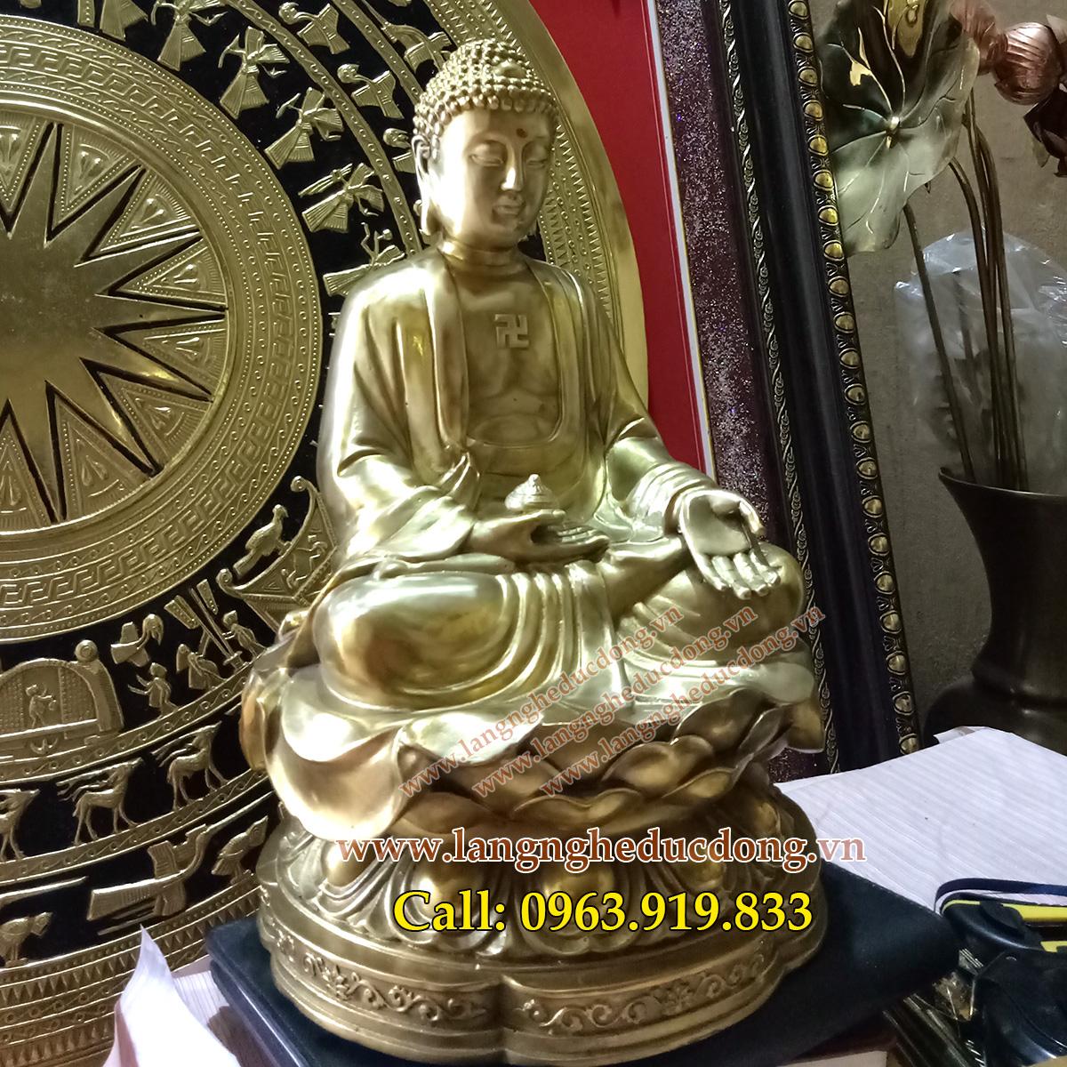 Tượng phật a di đà cao 31cm bằng đồng, giá bán tượng phật bằng đồng