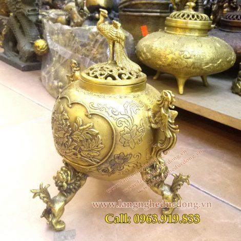 langngheducdong.vn - Đỉnh trầm,nắp phượng,chân nghê,đỉnh đồng xông trầm,đỉnh thờ cúng