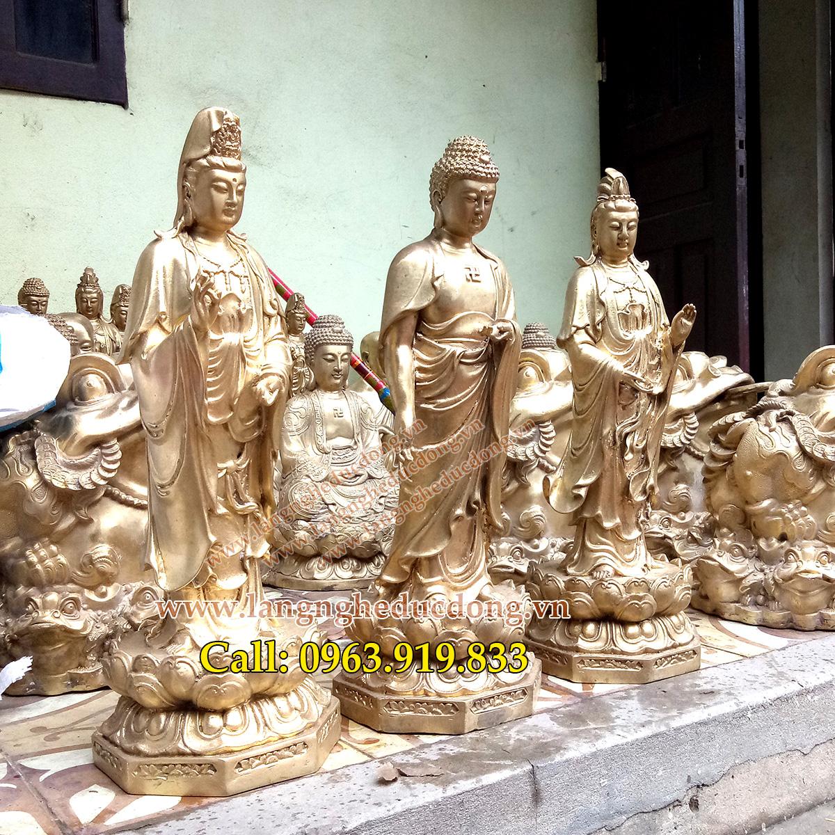 langngheducdong.vn - tượng phật, bộ tượng tam thánh, tượng đồng vàng