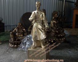 langngheducdong.vn - tượng trần hưng đạo bằng đồng vàng, mẫu tượng trần hưng đạo 50cm