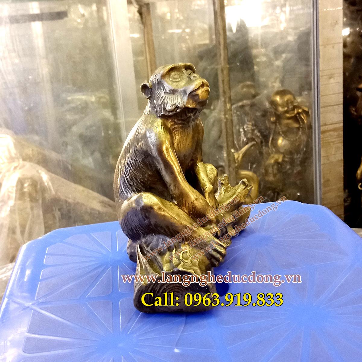 langngheducdong.vn - tượng khỉ đồng, mẫu tượng khỉ bằng đồng, vật phẩm phong thủy bằng đồng