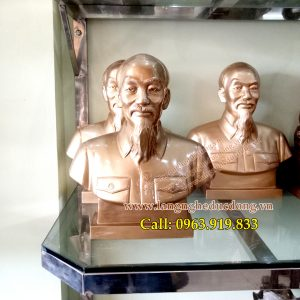 langngheducdong.vn - tượng bác hồ, tượng bán thân bác hồ bằng đồng, kích thước tượng bác hồ