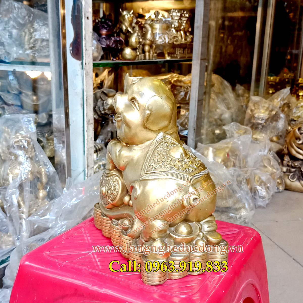 langngheducdong.vn - vật phẩm phong thủy, tượng heo phong thủy, đồ đồng phong thủy, mẫu tượng heo phong thủy