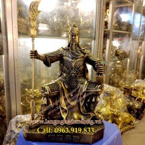 langngheducdong.vn - quan công ngồi, quan công cầm đao, mẫu tượng quan công, tượng đồng bằng quan công