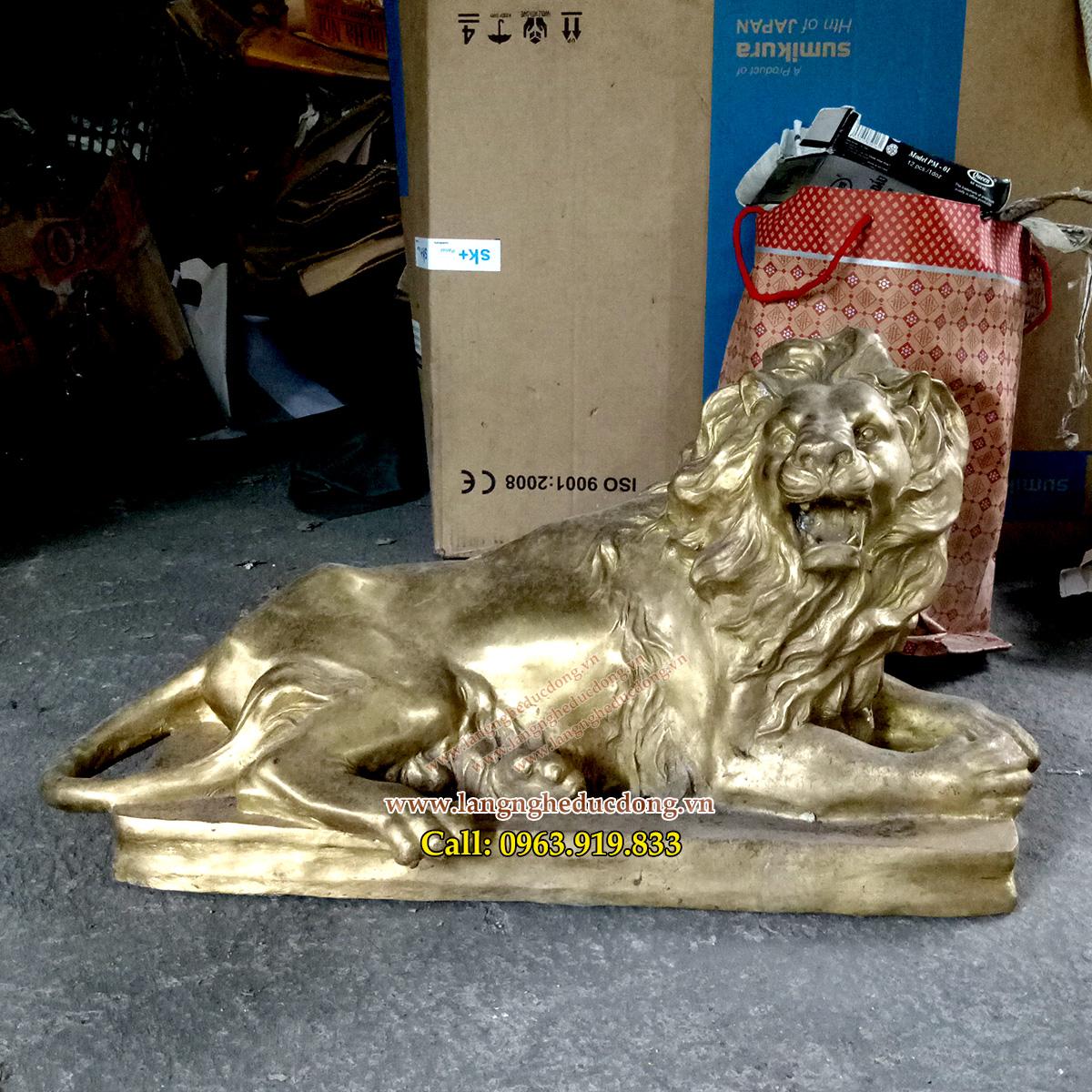 langngheducdong.vn - Tượng Sư Tử bằng đồng, sư tử trang trí, mẫu tượng sư tử