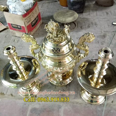 langngheducdong.vn - đỉnh đồng thờ cúng, đỉnh mẫu sòi, bộ đỉnh tam sự, đỉnh nến bằng đồng