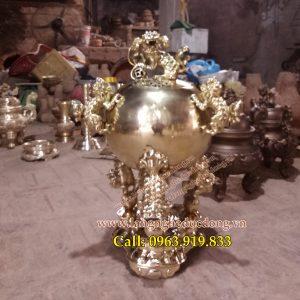 langngheducdong.vn - quả cầu thất lân, quả cầu bằng đồng, quả cầu đồng vàng