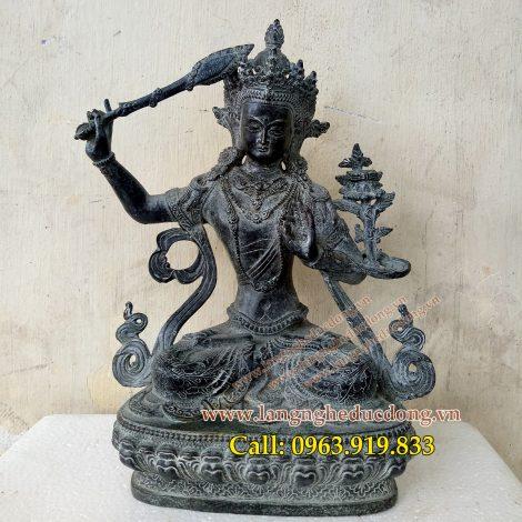 langngheducdong.vn - tượng đồng, tượng văn thù, văn thù bồ tát, tượng phật bồ tát giả cổ