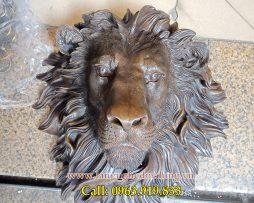 langngheducdong.vn - tượng đồng, tượng trang trí, đầu tượng sư tử bằng đồng