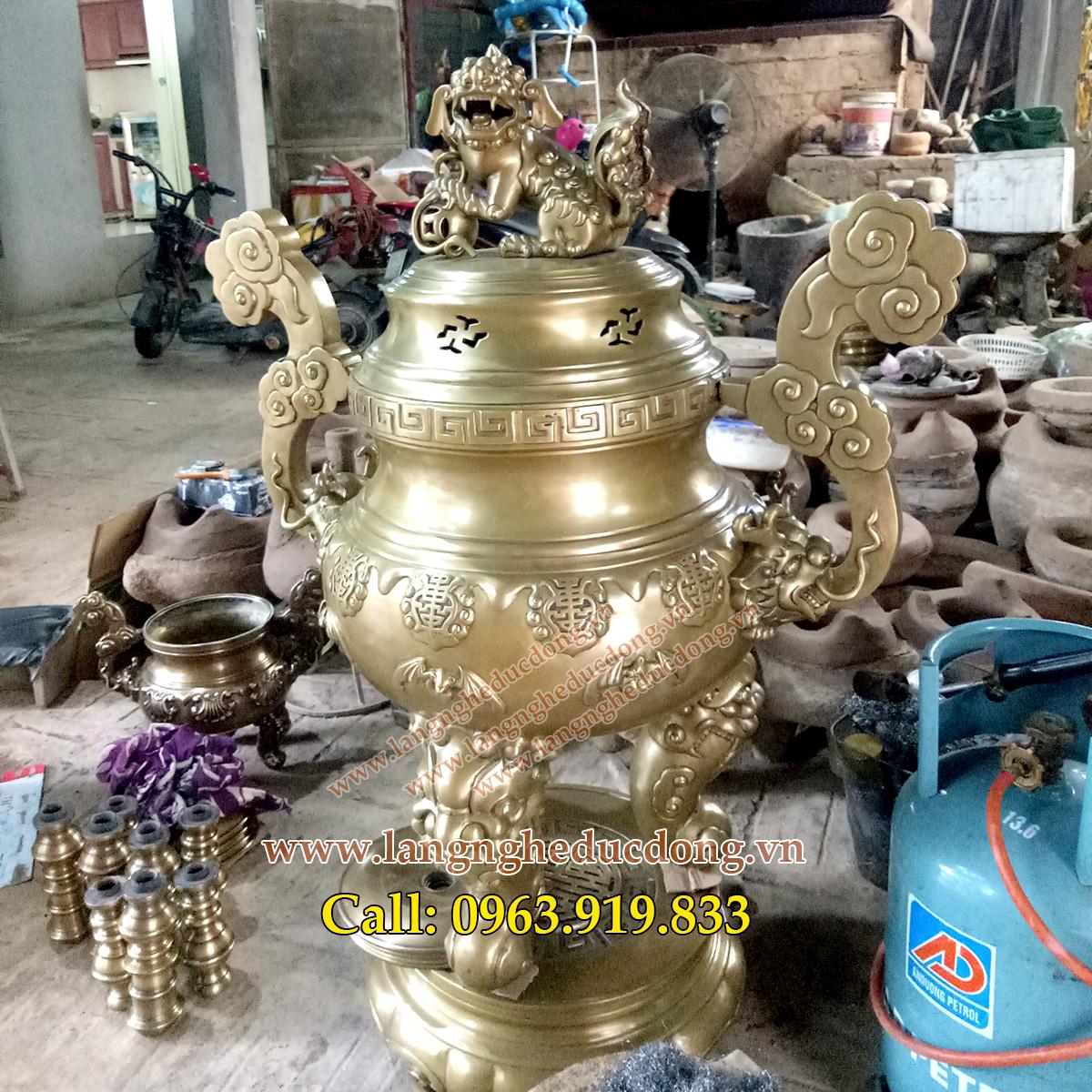 langngheducdong.vn - đồ thờ cúng bằng đồng, đỉnh đồng cúng tiến, đồ đồng cúng tiến