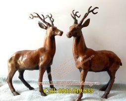 langngheducdong.vn - tượng trang trí, hưu đồng, cặp hươu bằng đồng, mẫu hươu đồng