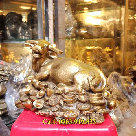 langngheducdong.vn - tượng phong thủy, tượng trâu bằng đồng, vật phẩm phong thủy bằng đồng