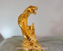 langngheducdong.vn - đồ phong thủy bằng đồng, rắn mạ vàng nano, rắn phong thủy mạ vàng