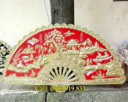 langngheducdong.vn - tranh đồng, quạt đồng, quạt đồng phong cảnh đồng quê