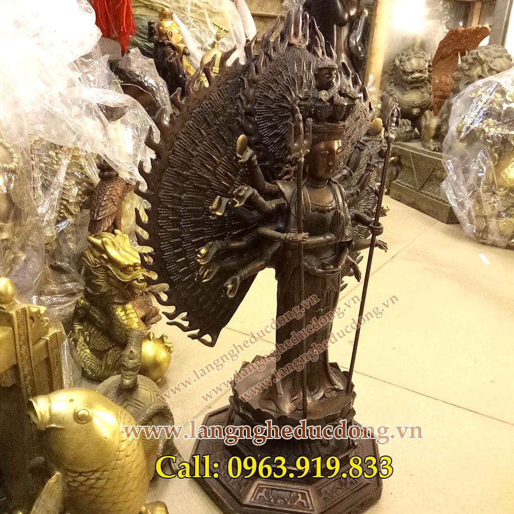 langngheducdong.vn - tượng phật, tượng thiên thủ thiên nhãn bằng đồng, thiên thủ thiên nhãn