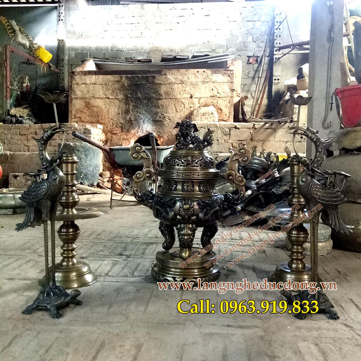 langngheducdong.vn - đỉnh đồng, lư hương, đồ thờ bằng đồng, đồ thờ cúng