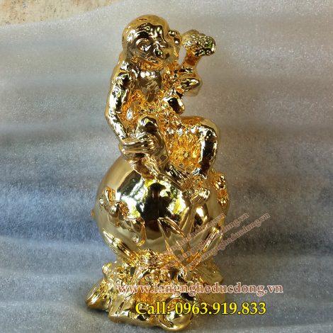 langngheducdong.vn - tượng phong thủy, tượng khỉ đồng dát vàng, tượng phong thủy dát vàng