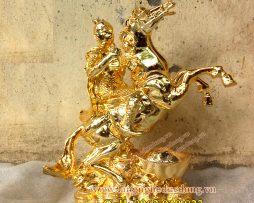 langngheducdong.vn - tượng phong thủy, ngựa đồng, ngựa phong thủy mạ vàng