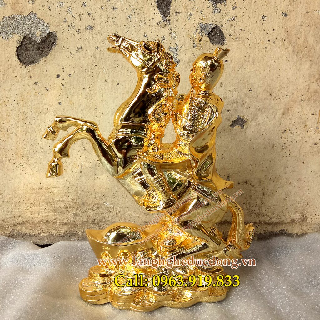Tượng mã thượng phong hầu mạ vàng, vật phẩm phong thủy