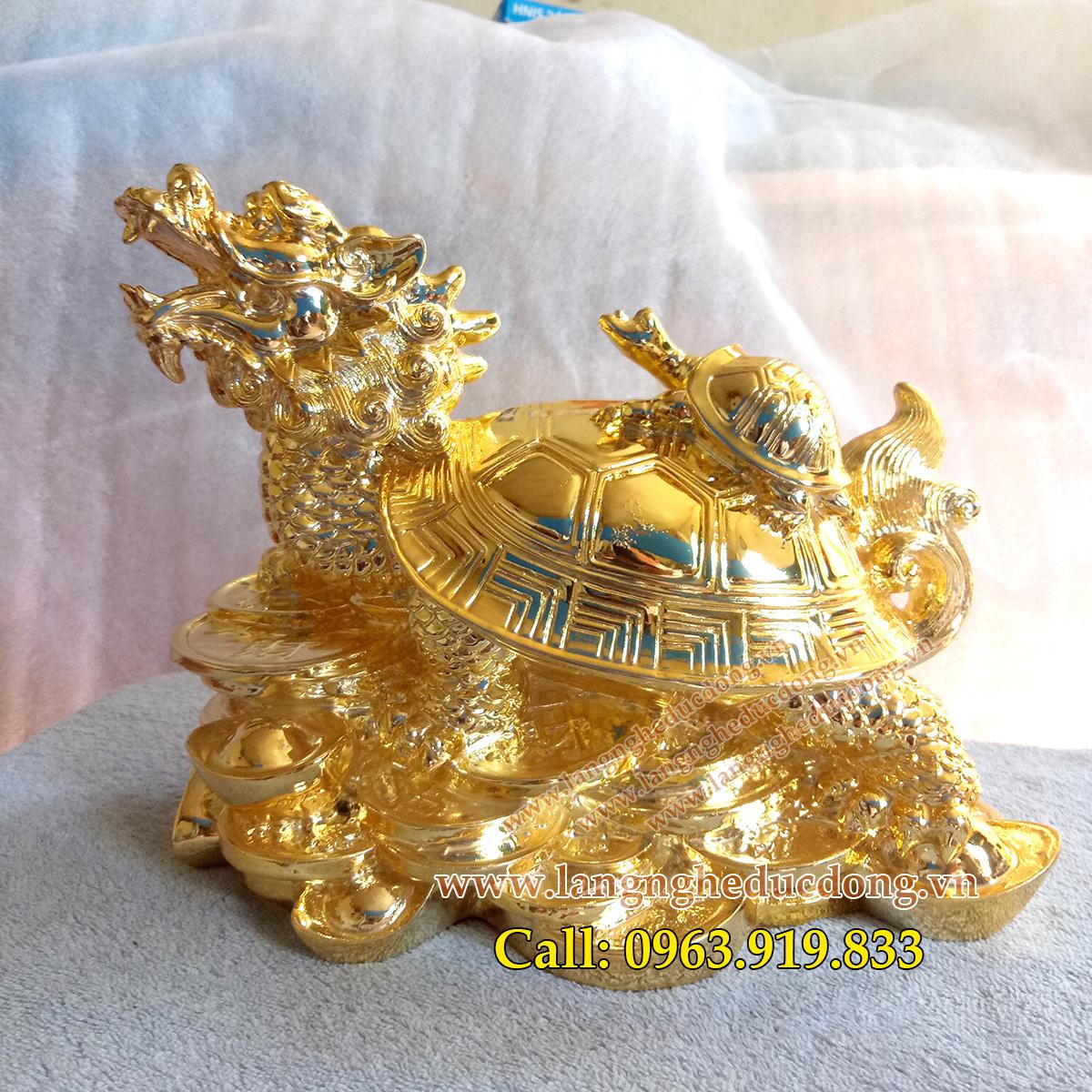 langngheducdong.vn - tượng đồng, rùa đồng, long quy, tượng mạ vàng