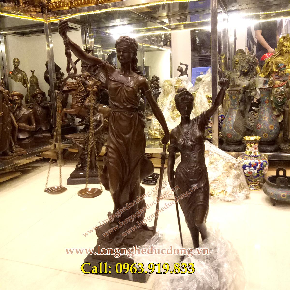 langngheducdong.vn - tượng đồng, tượng trang trí, tượng nữ thần công lý