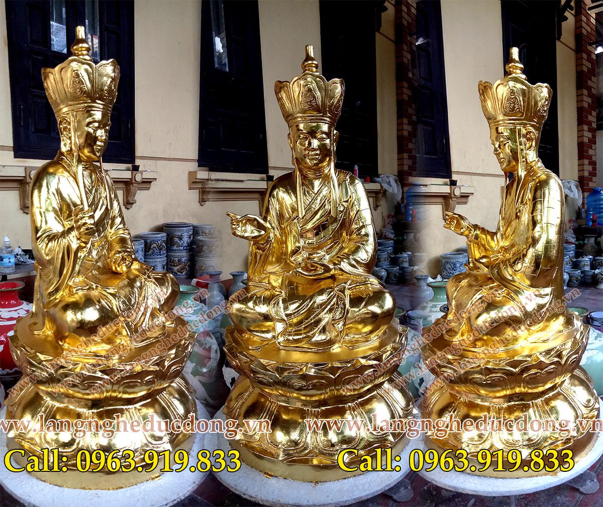 langngheducdong.vn - tượng phật, tượng địa tạng, tượng địa tạng bằng đồng dát vàng