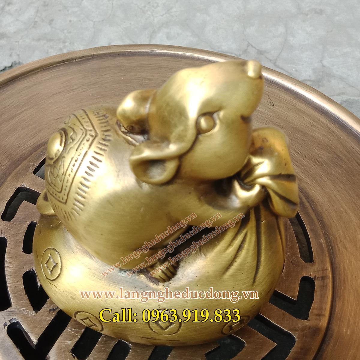 Mẫu chuột phong thủy cao 10cm, chuột phong thủy bằng đồng, bán chuột đồng