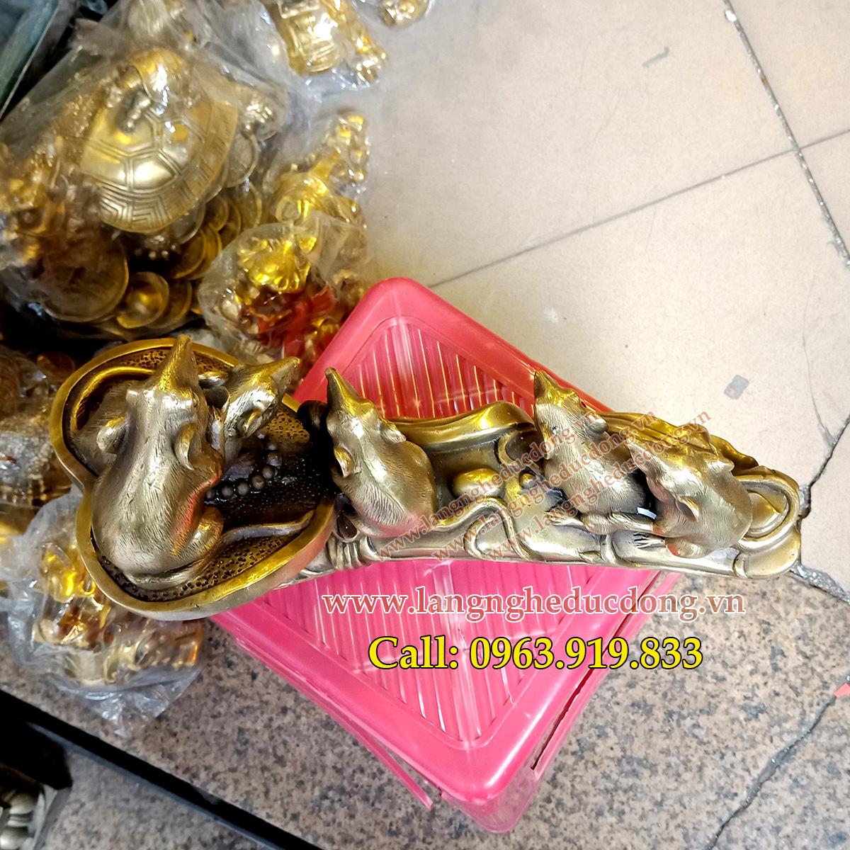 langngheducdong.vn - chuột đồng, đồ đồng phong thủy, vật phẩm phong thủy bằng đồng