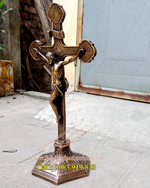 Thánh giá bằng đồng cao 60cm,Thánh Giá, Thập Tự giá, Chúa Giê-su