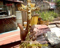 langngheducdong.vn - thánh giá mạ vàng, thánh giá bằng đồng, tượng thán giá bằng đồng