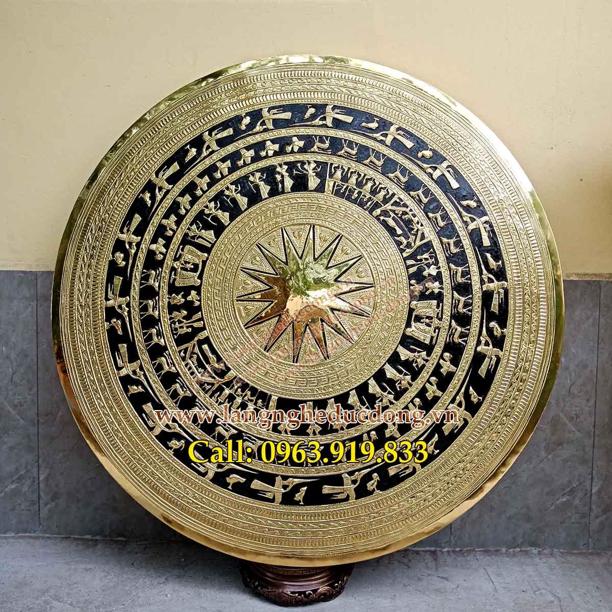 langngheducdong.vn - mặt trống, mặt trống đồng vàng, mẫu mặt trống đồng, tranh mặt trống đồng