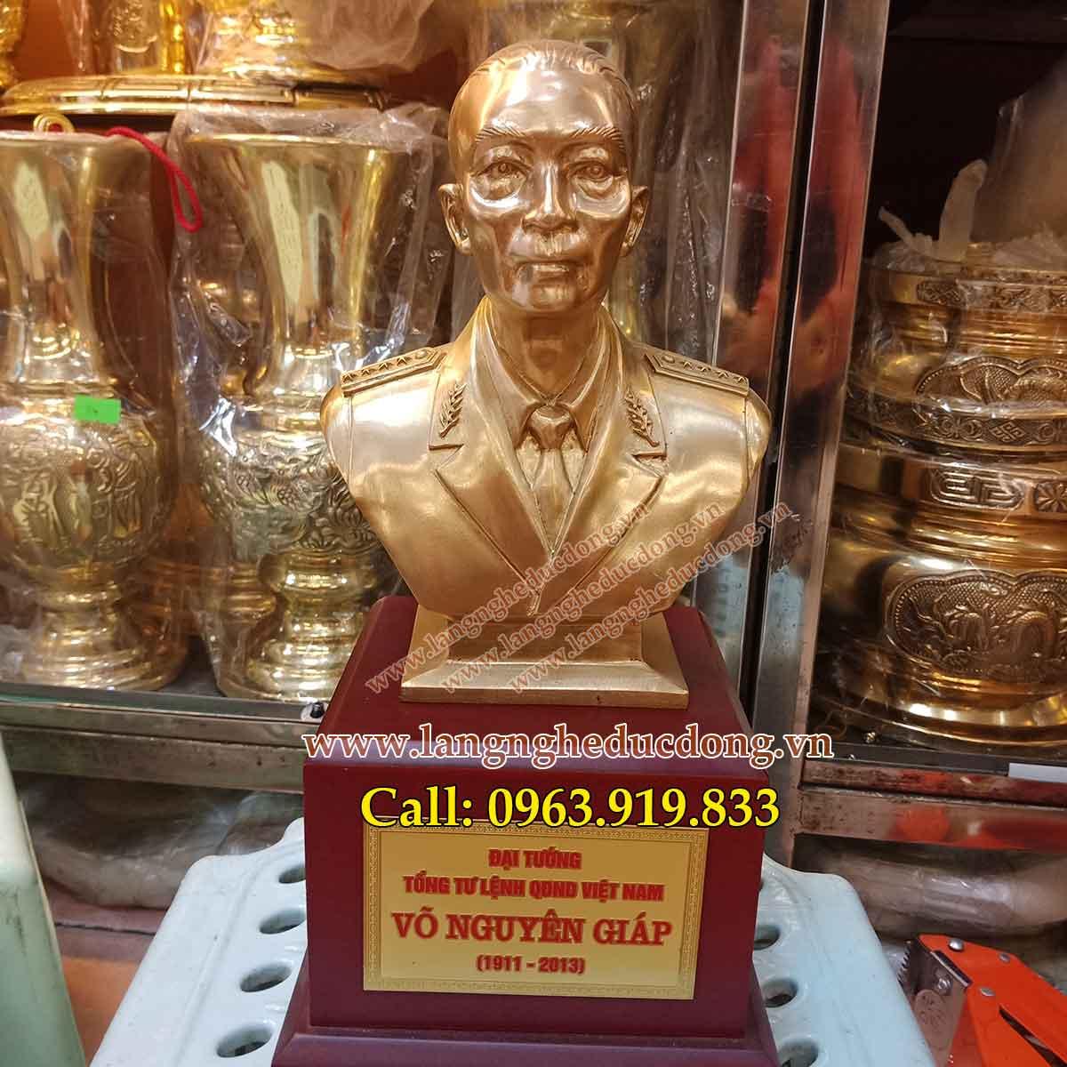 langngheducdong. vn tượng võ nguyên giáp bằng đồng vàng đúc công nghệ