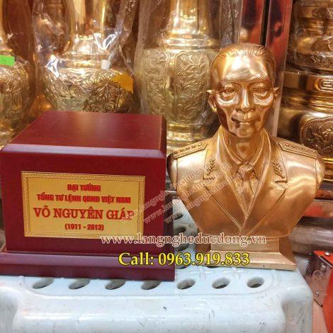langngheducdong.vn - tượng đồng. tượng võ nguyên giáp, mẫu tượng võ nguyên giáp bằng đồng vàng