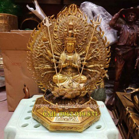langngheducdong.vn – Phật Bà nghìn mắt nghìn tay, thiên thủ thiên nhãn cao 25cm