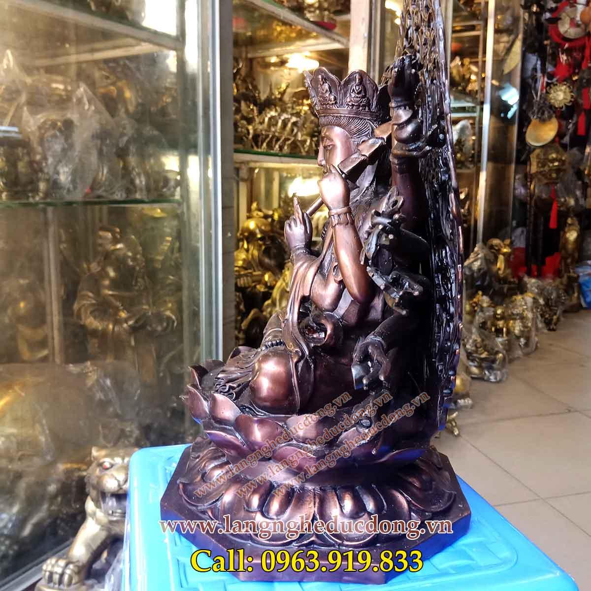 langngheducdong.vn - tượng đồng, tượng phật, tượng chuẩn đề bằng đồng