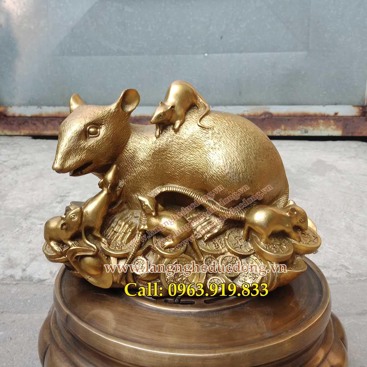 bán chuột đồng phong thủy. các mẫu chuột phong thủy bằng đồng, giá bán chuột đồng