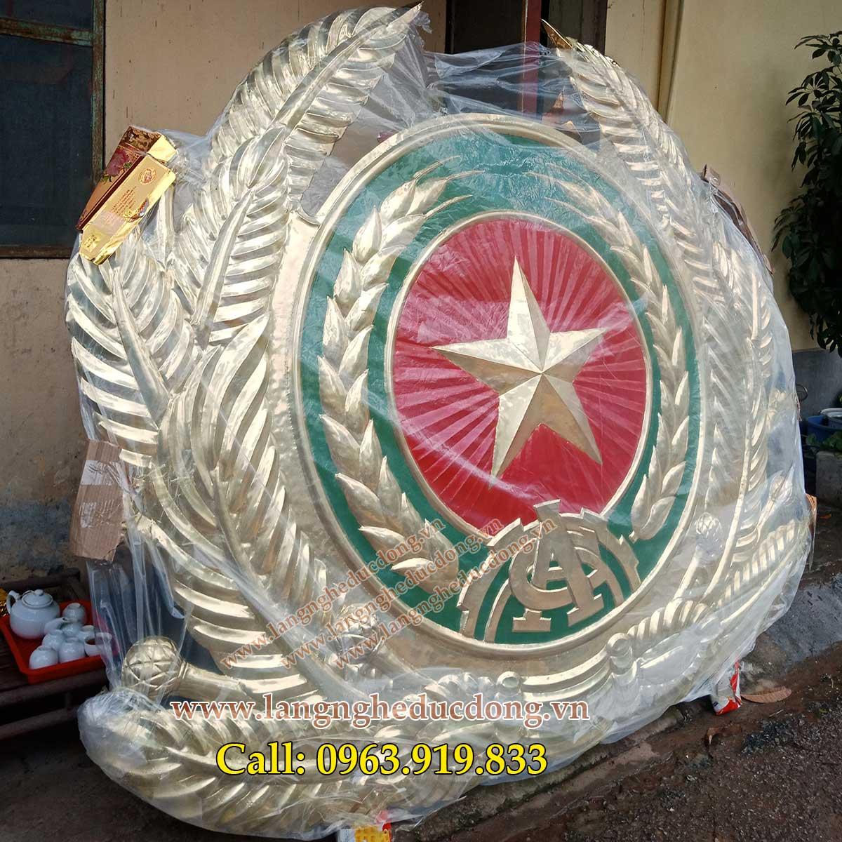 huy hiệu, quốc huy, logo các ngành bằng đồng thúc nổi